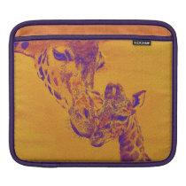 giraffe love i-pad sleeve for iPads
