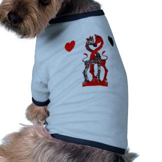 Giraffe Love - Passionate Red Pet Tee Shirt