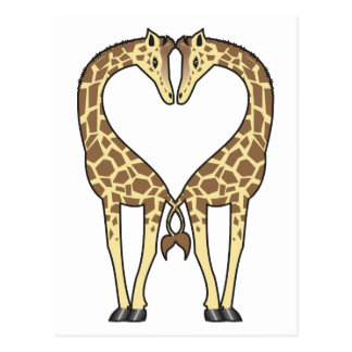 Giraffe Love Post Cards