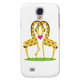 Giraffe Love Samsung Galaxy S4 Cover