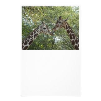 Giraffe Love Customized Stationery