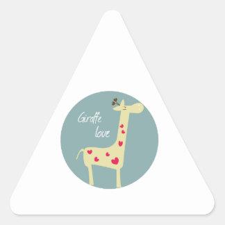 Giraffe Love Triangle Sticker