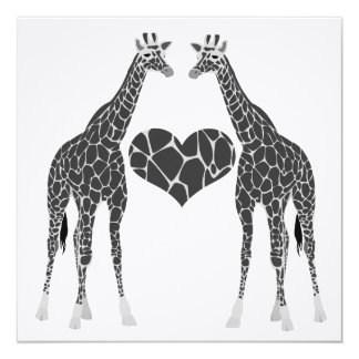 Giraffe Love Wedding Reception Invitation
