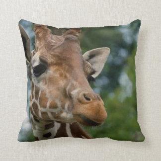 Giraffe Lovers Wildlife Pillow