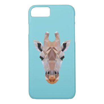 McTiffany Tiffany Aqua Giraffe Low Poly Blue Iphone Case