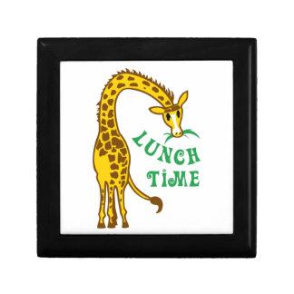 GIRAFFE LUNCH TIME TRINKET BOXES