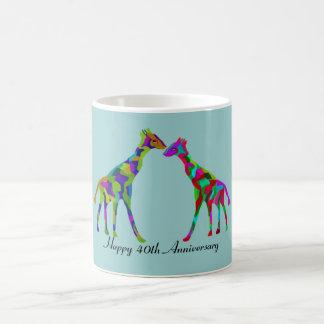 Giraffe Luv 40th Anniversary Coffee Mug