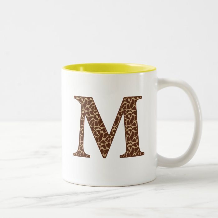 Giraffe M Two-Tone Coffee Mug