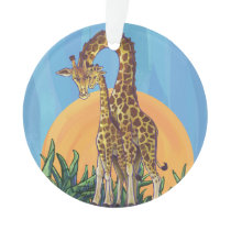 Giraffe Mama and Baby Ornament