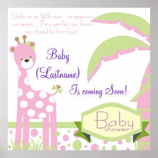 Giraffe Matching Poster Banner