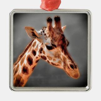 Giraffe Metal Ornament