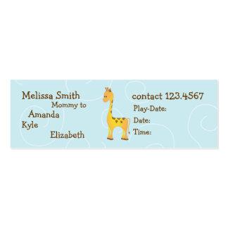 Giraffe Mini Business Card