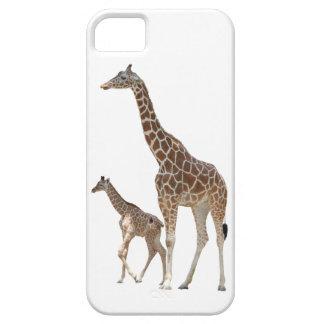 Giraffe Mom and Baby iPhone 5 case
