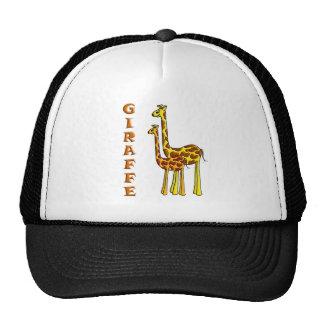 Giraffe Mom and Baby Trucker Hats