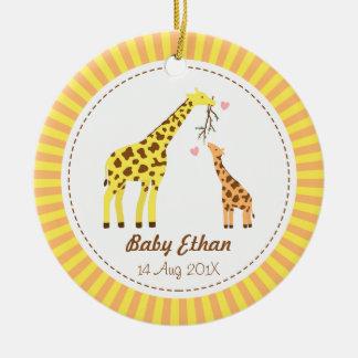 Giraffe Mommy and Baby Nursery Room Decor Ceramic Ornament