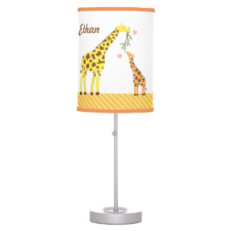 Giraffe Mommy and Baby Nursery Room Decor Lamps