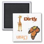 Giraffe & Monarch-Clean/Dirty - Dishwasher Magnet Magnet
