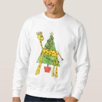 Giraffe, Monkey and Christmas Tree. Sweatshirt