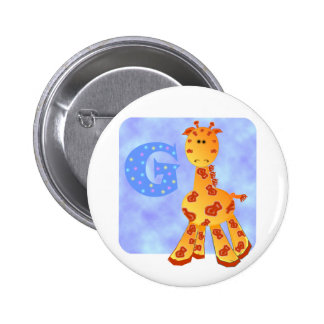 Giraffe Monogram G. Button