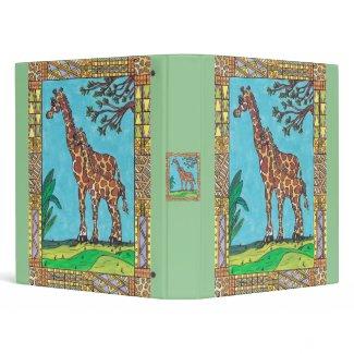 Giraffe Mum and Baby Binder binder