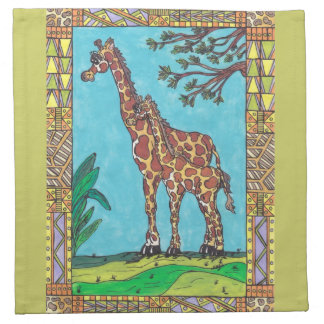 Giraffe Mum and Baby Napkins