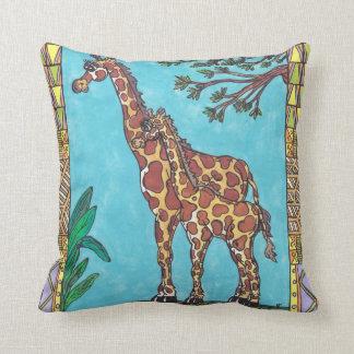 Giraffe Mum and Baby Pillow