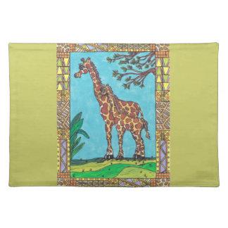 Giraffe Mum and Baby Placemat