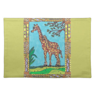 Giraffe Mum and Baby Placemat Cloth Place Mat