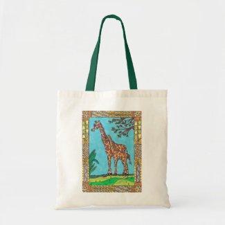 Giraffe Mum and Baby tote bag bag