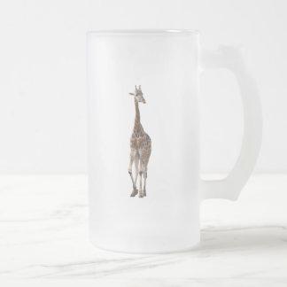 Giraffe Named Tip Top Mug..! Frosted Glass Beer Mug