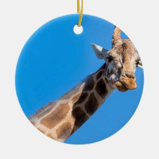 Giraffe neck and head ceramic ornament