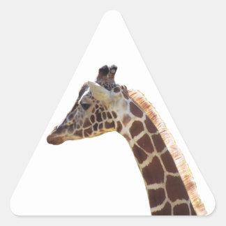 Giraffe Neck and Head Triangle Sticker