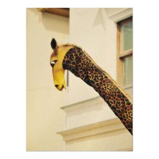 Giraffe neck 6.5x8.75 paper invitation card