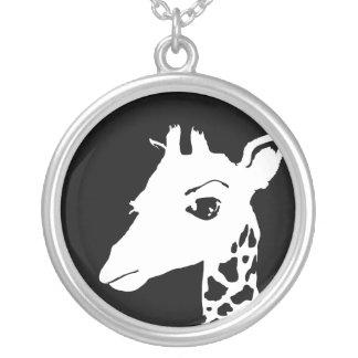 giraffe personalized necklace