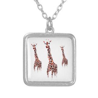 Giraffe Necklace Wildlife Art