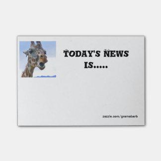Giraffe News Post-it Notes