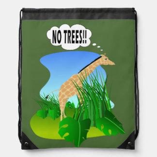 Giraffe: No Trees Backpacks