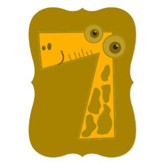 Giraffe Number Seven Card