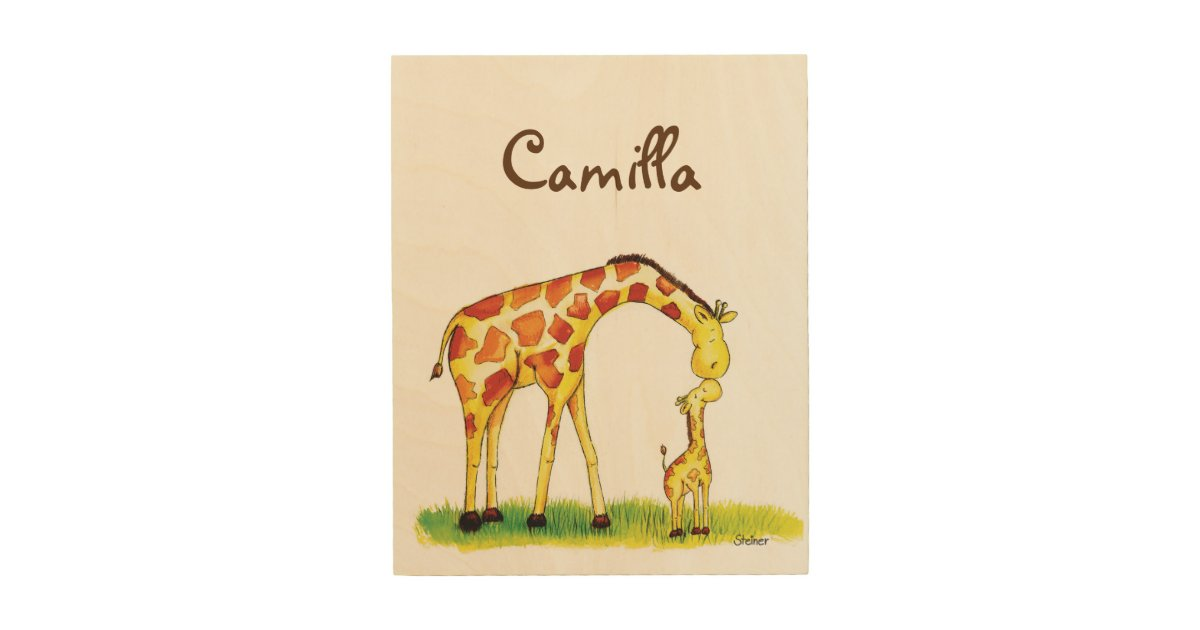 Giraffe Nursery Art Personalize With
