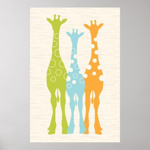 Giraffe Nursery Print