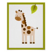 Giraffe Nursery Wall Art Print