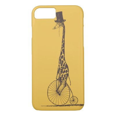 Giraffe on a Bicycle Case-Mate iPhone Case