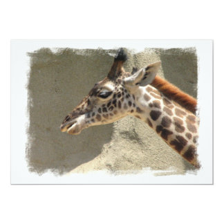 "Giraffe on an Invitation 5"" X 7"" Invitation Card"