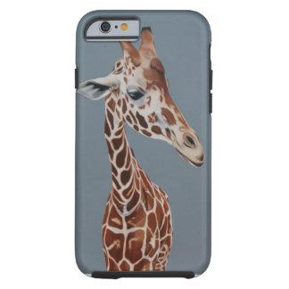 Giraffe on grey background iphone case