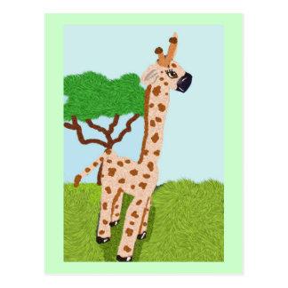 Giraffe On The African Veldt Postcard