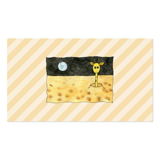 Giraffe on the Moon. Business Card Template