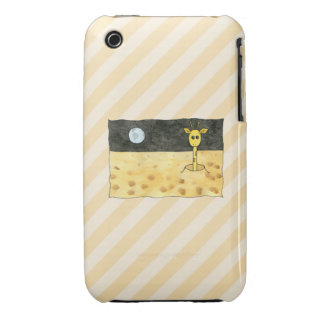 Giraffe on the Moon. iPhone 3 Case