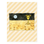 Giraffe on the Moon. Post Card