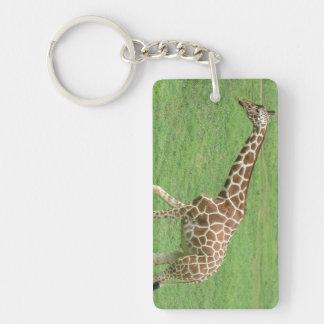 Giraffe ~ On the Move Double-Sided Rectangular Acrylic Keychain