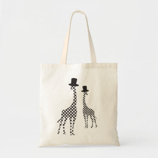 Giraffe on the road Budget Tote